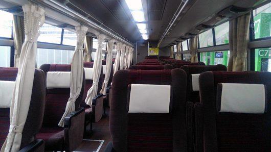京王バスの3列シート仕様です。