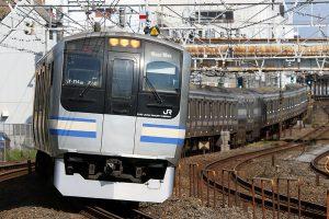 成田空港行快速に使用されるE217系