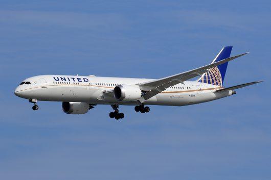 UA/UAL/ユナイテッド航空 UA875 B787-9 N29971