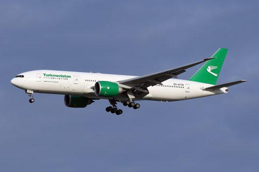 T5/TUA/トルクメニスタン航空 T53225 B777-200ER EZ-A778