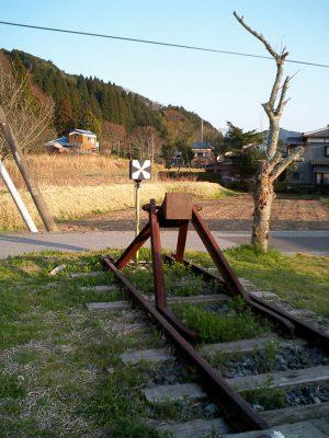 上総亀山駅の線路終端