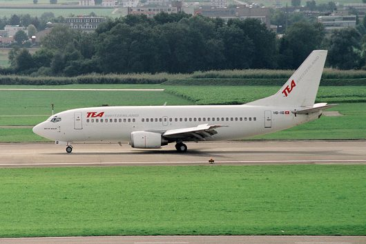 TEA Switzerland B737-300 HB-IIB