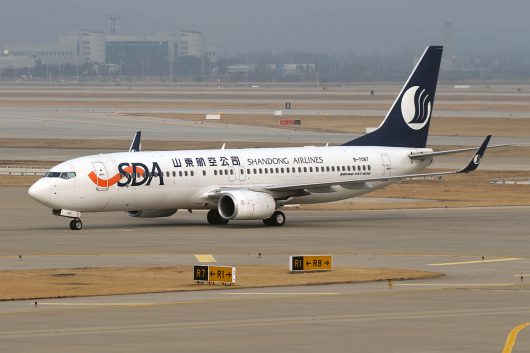 SC/CDG/山東航空 SC4087 B737-800 B-7087