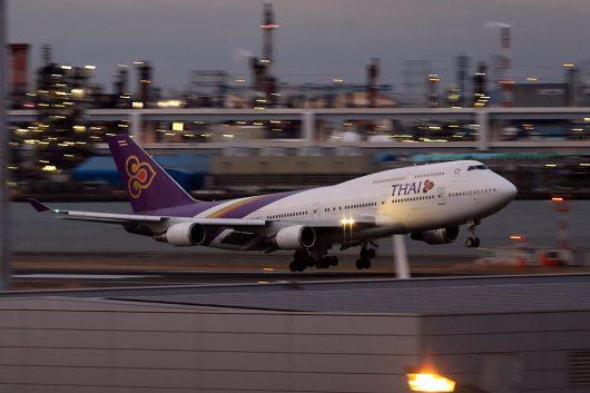 TG/THA/タイ国際航空 TG682 B747-400 HS-TGZ