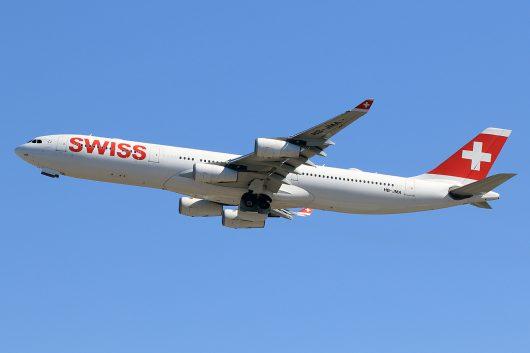 LX/SWR/スイス国際航空 A340-300 HB-JMA