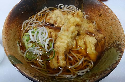 尾の身天ぷら蕎麦