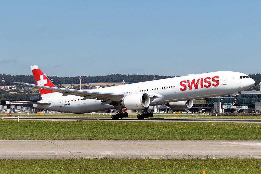 LX/SWR/スイス国際航空 B777-300ER HB-JND