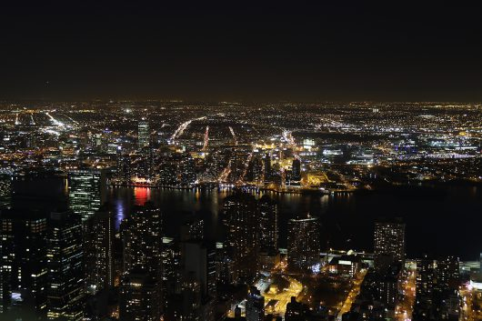 NYC エンパイヤステートビルからの夜景1