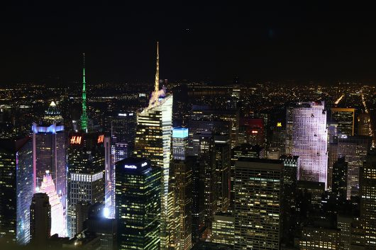 NYC エンパイヤステートビルからの夜景2