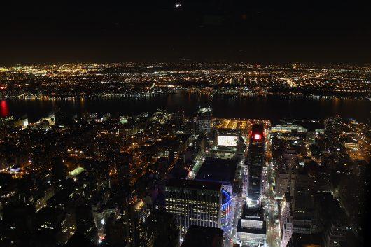 NYC エンパイヤステートビルからの夜景3