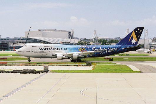 アンセットオーストラリア航空 B747-400 VH-INJ