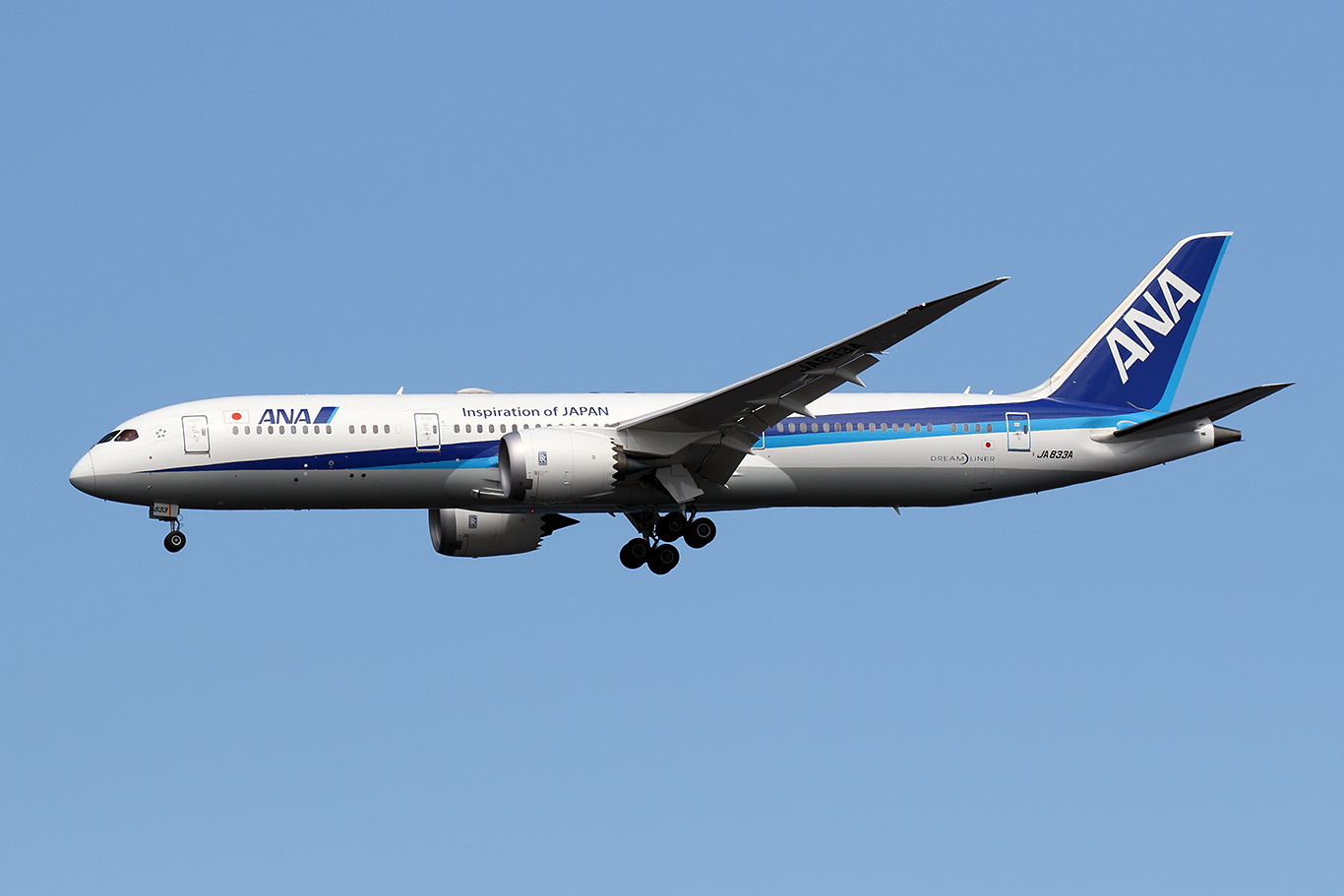 NH/ANA/全日空 NH464 B787-9 JA833A