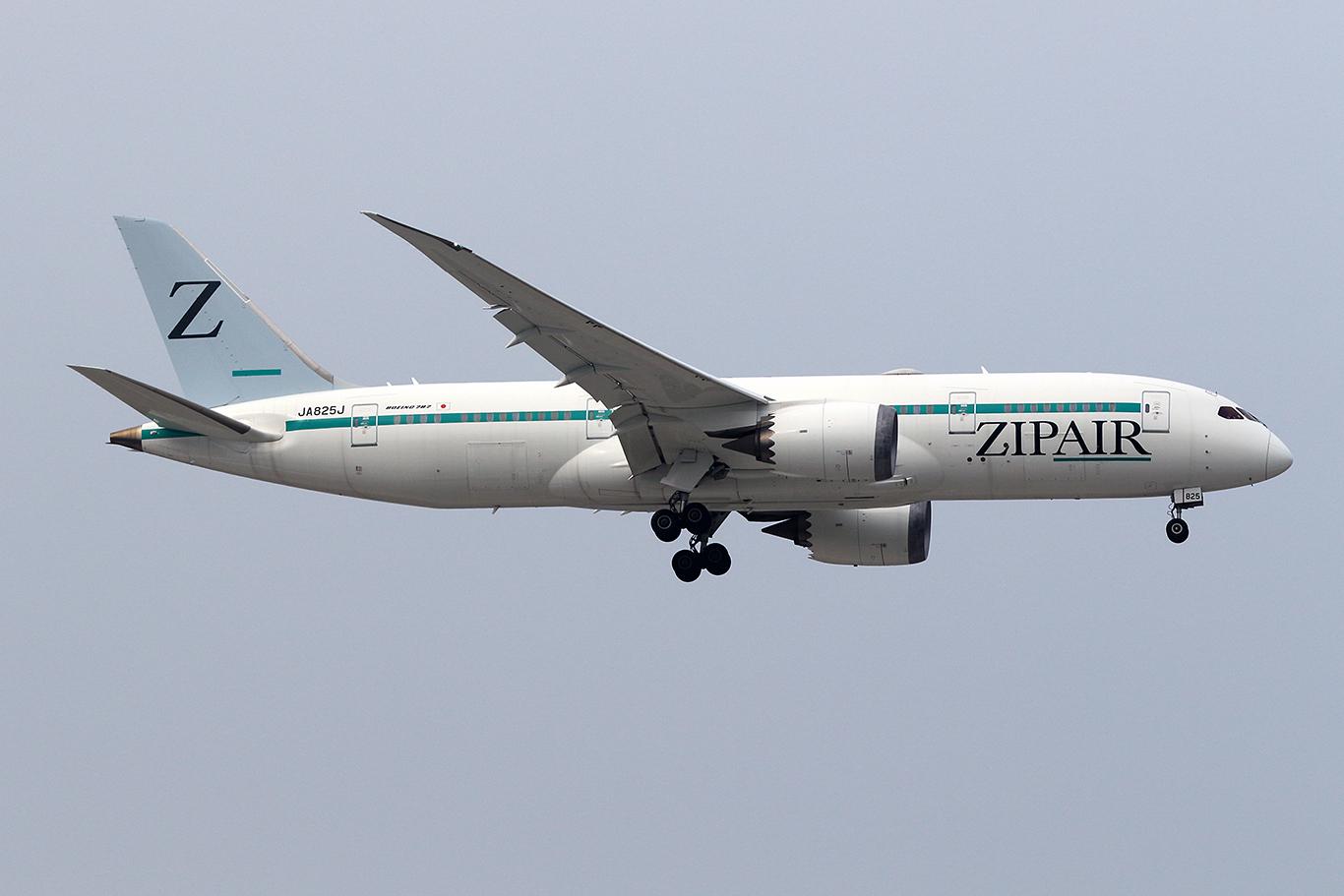 ZG/TZP/ジップエア・トーキョー ZG52 B787-8 JA825J