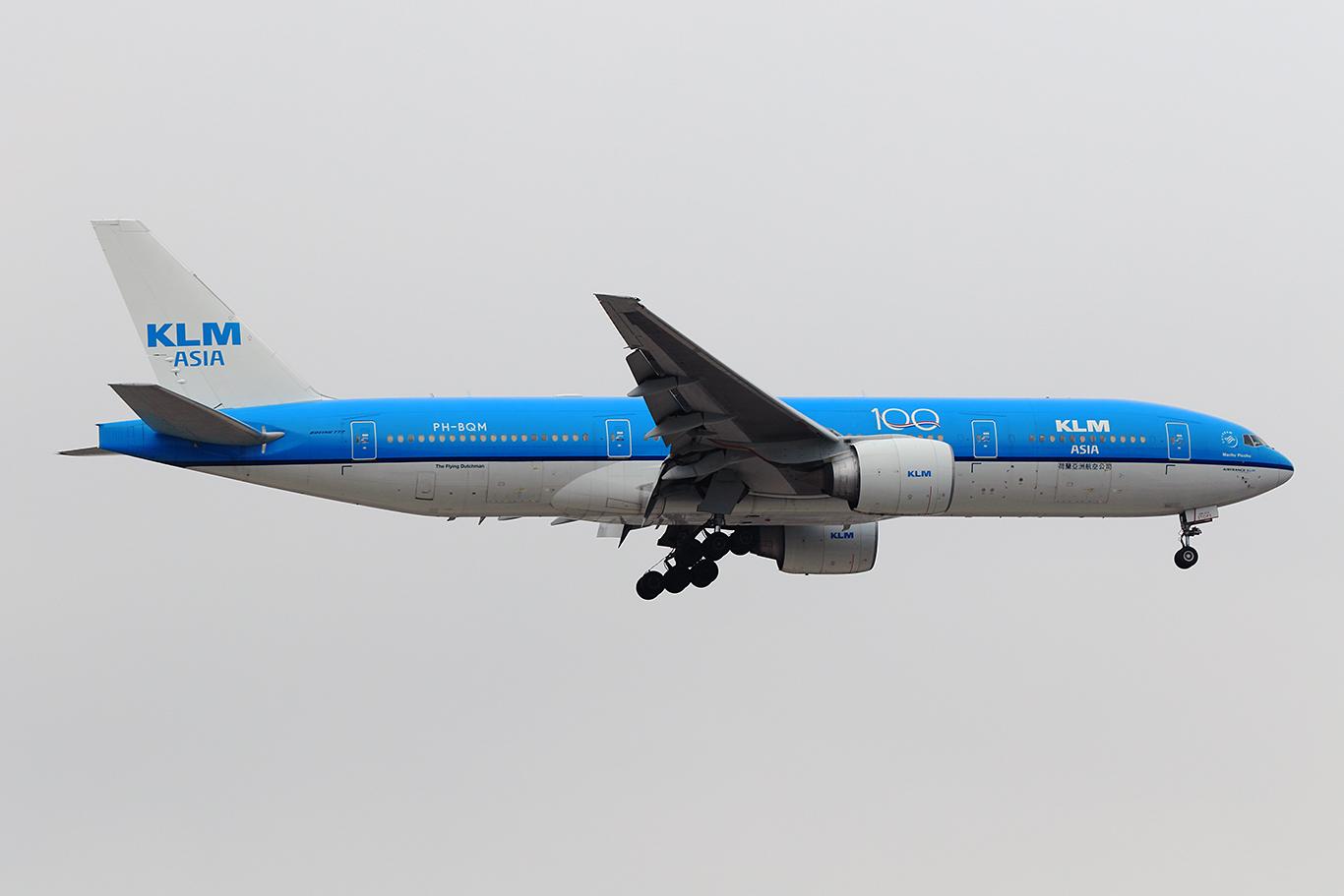KL/KLM/KLMオランダ航空 KL861 B777-200ER PH-BQM