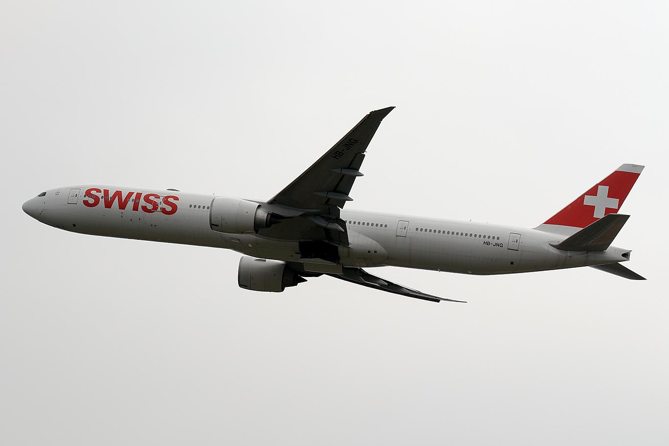 LX/SWR/スイス国際航空 LX161 B777-300ER HB-JNG