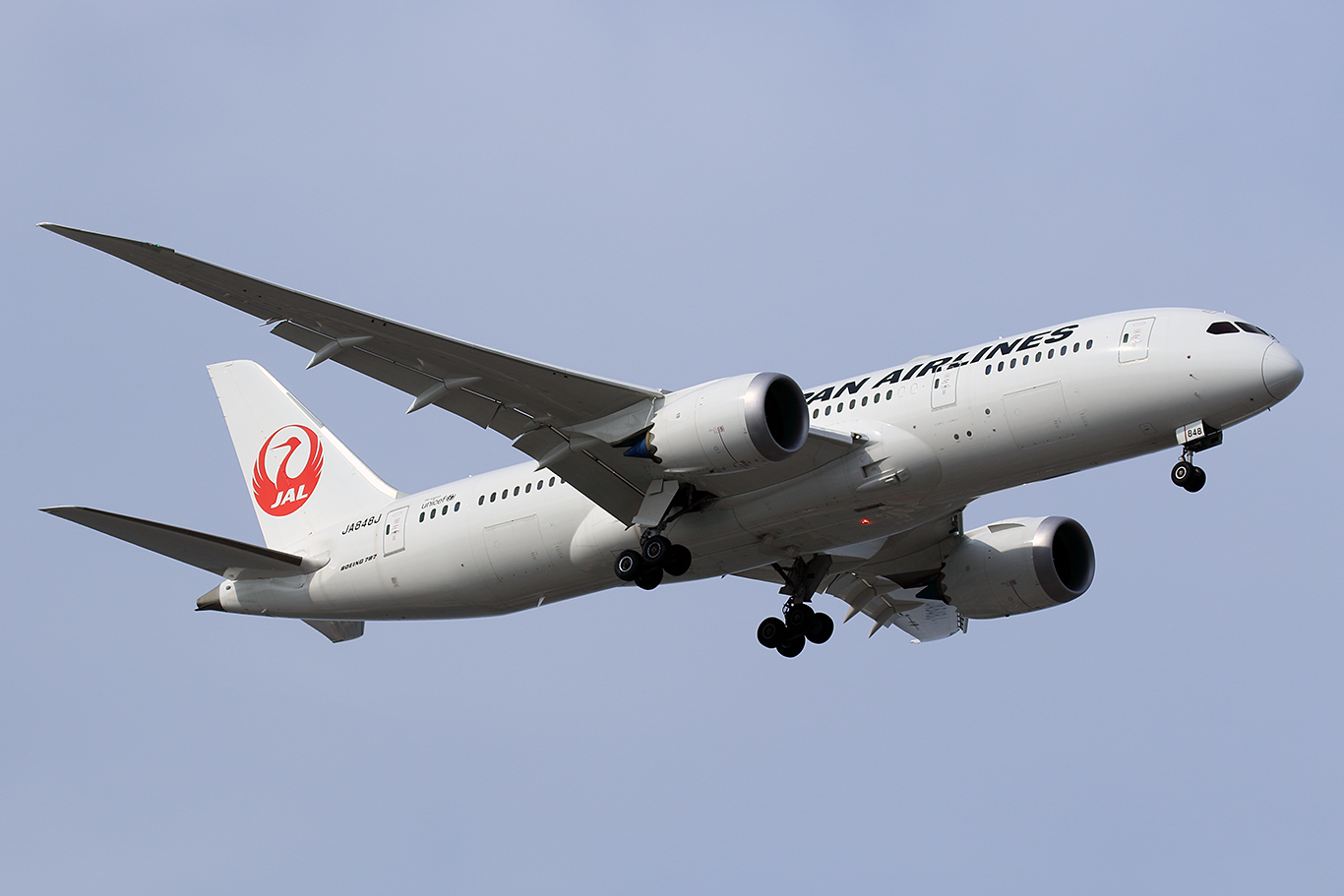 JL/JAL/日本航空 JL120 B787-8 JA848J