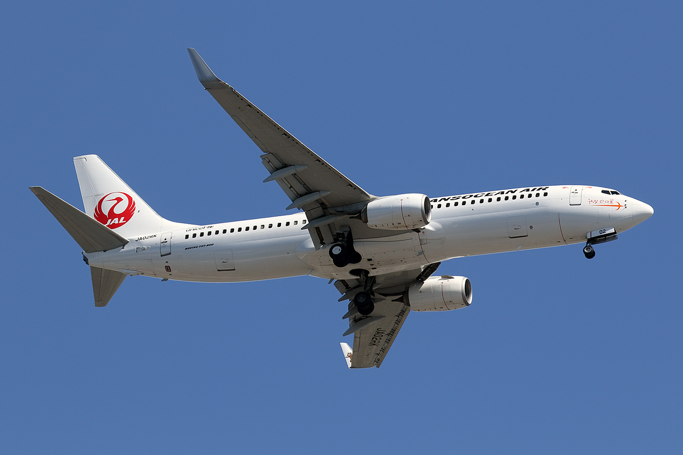 NU/JTA/日本トランスオーシャン航空 B737-800 JA02RK
