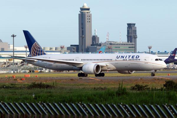 UA/UAL/ユナイテッド航空 UA838 B787-9 N45956
