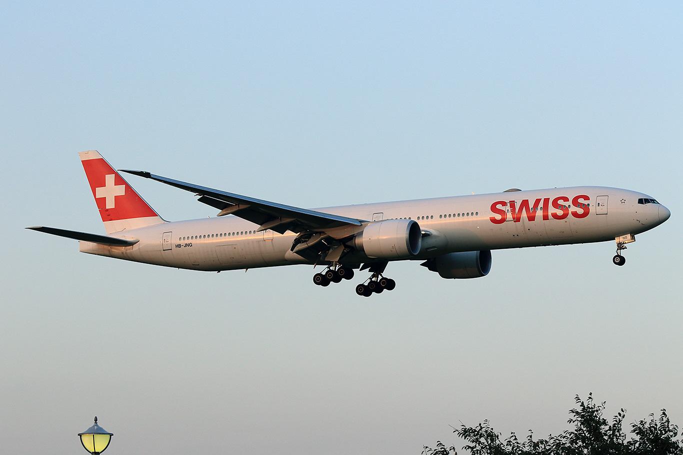 LX/SWR/スイス国際航空 B777-300ER HB-JNG