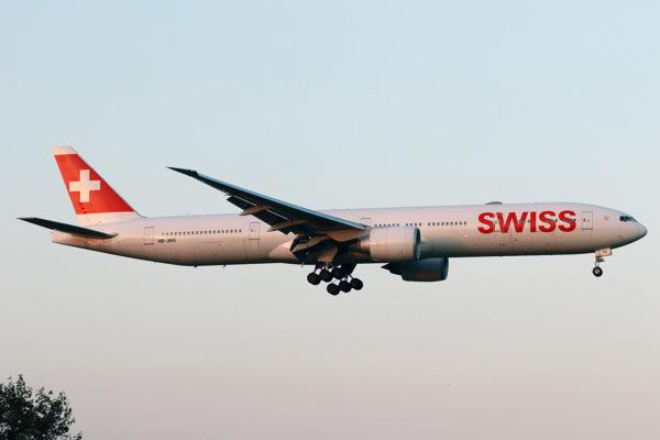 LX/SWR/スイス国際航空 LX160 B777-300ER HB-JNG