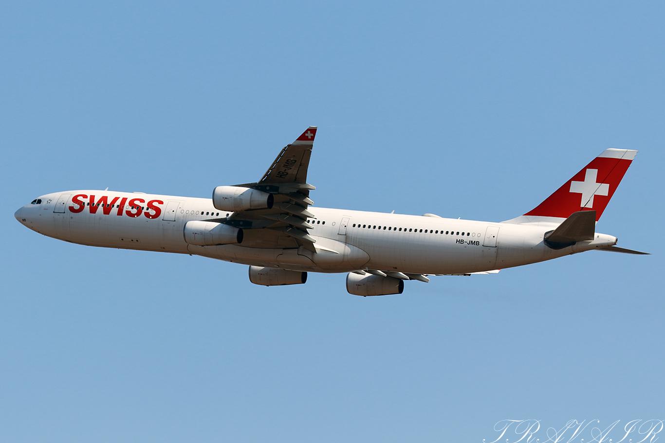 LX/SWR/スイス国際航空 LX161 A340-300 HB-JMB