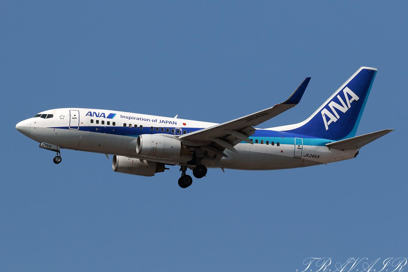 NH/ANA/全日空 NH296 B737-700 JA04AN