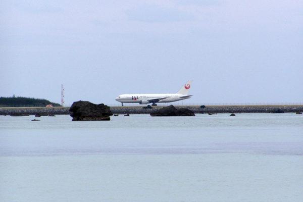 下地島 B767訓練 佐和田の浜