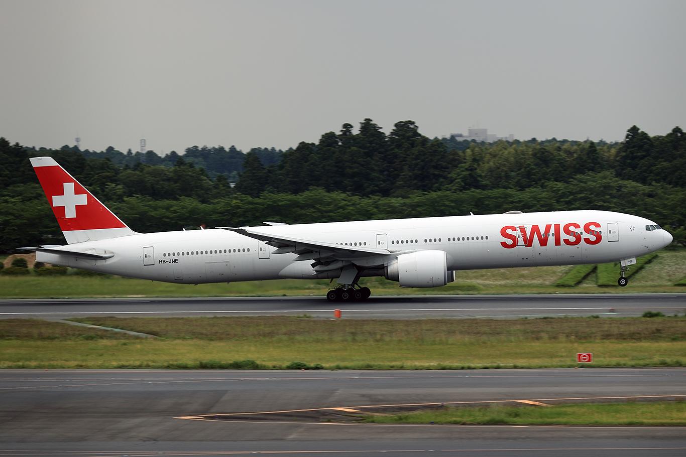 LX/SWR/スイス国際航空 LX161 B777-300ER HB-JNE
