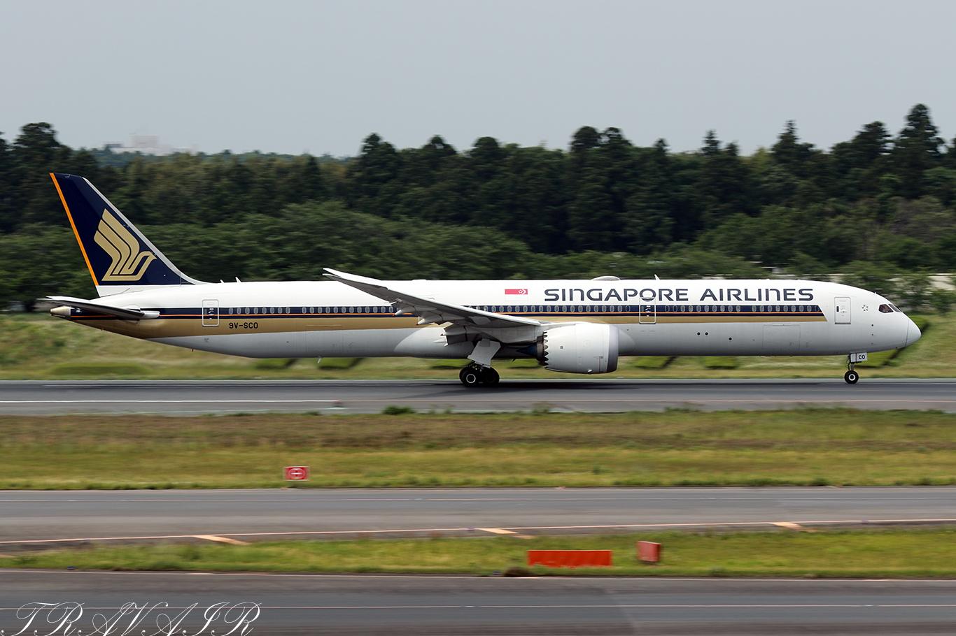 SQ/SIA/シンガポール航空 SQ637 B787-10 9V-SCO