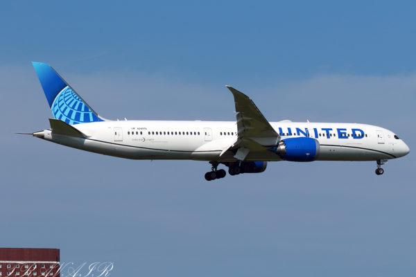 UA/UAL/ユナイテッド航空 UA837 B787-9 N24976