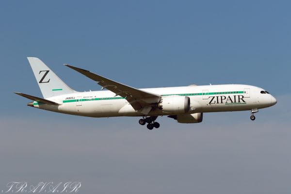 ZG/TZP/ジップエア・トーキョー ZG42 B787-8 JA822J