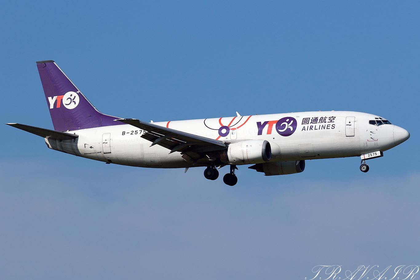 YG/HYT/YTOカーゴ・エアラインズ B737-300F B-2575