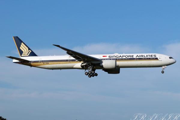 SQ/SIA/シンガポール航空 SQ23 B777-300ER 9V-SWK
