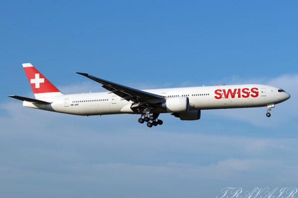 LX/SWR/スイス国際航空 LX160 B777-300ER HB-JNC