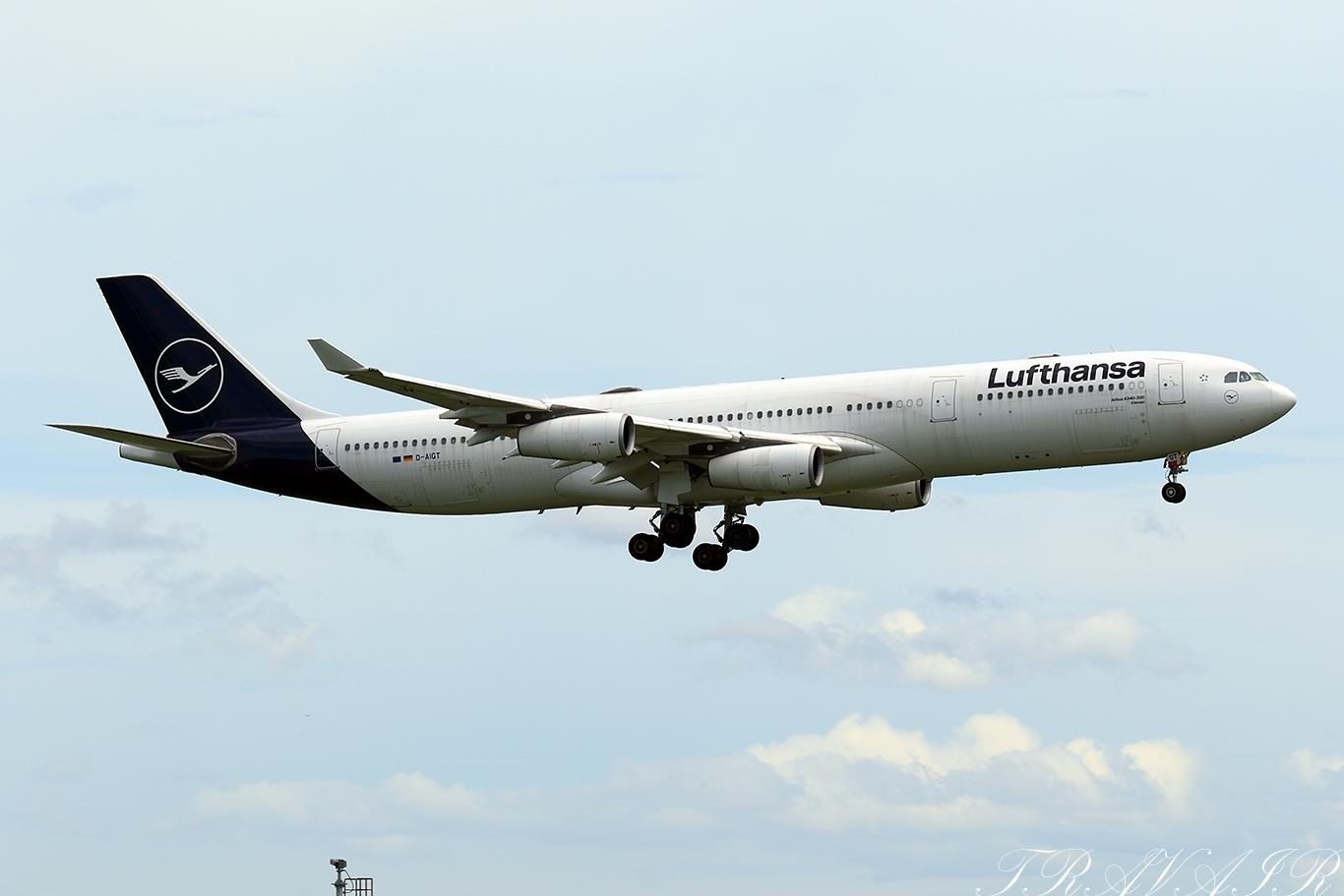LH/DLH/ルフトハンザ・ドイツ航空 LH717 A340-300 D-AIGT