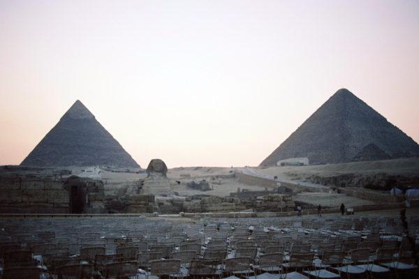 夕方のピラミッド