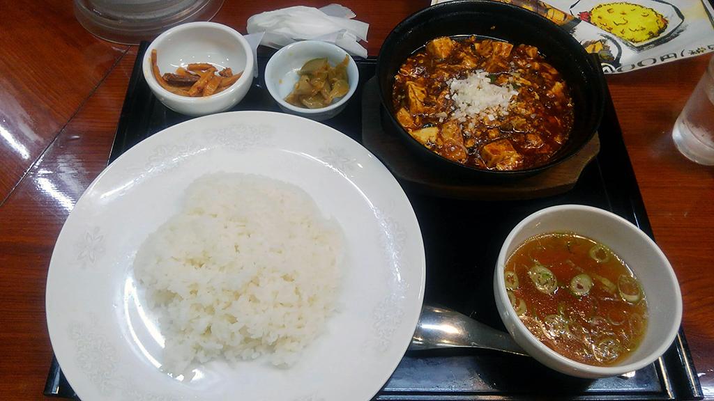 中嘉屋食堂 麺飯甜 麻婆豆腐定食