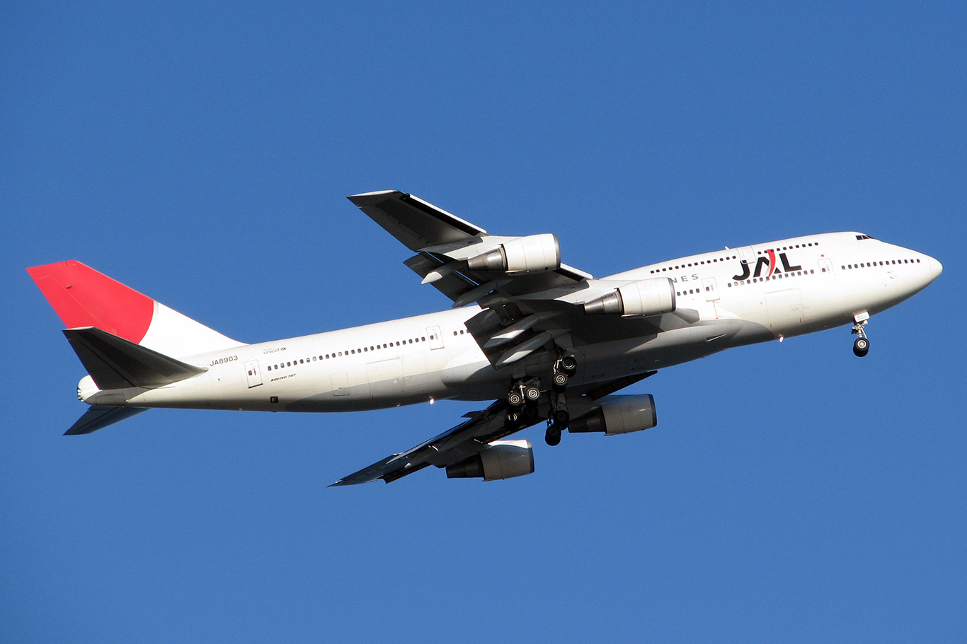 JL/JAL/日本航空 B747-400D JA8903