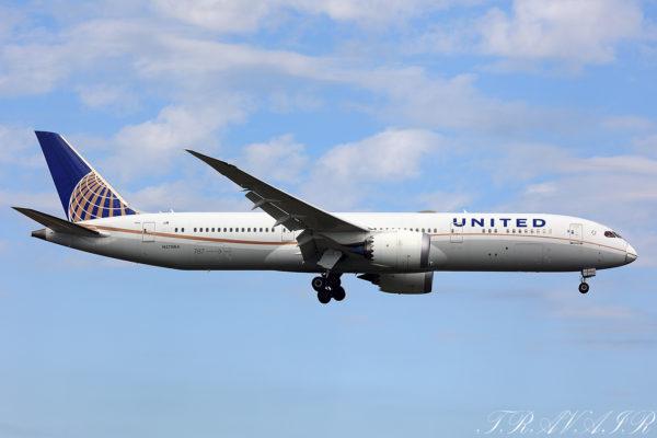 UA/UAL/ユナイテッド航空 UA79 B787-9 N27964